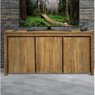 Hortensia Recycled Teak 3 Door Sideboard by Loon Peak