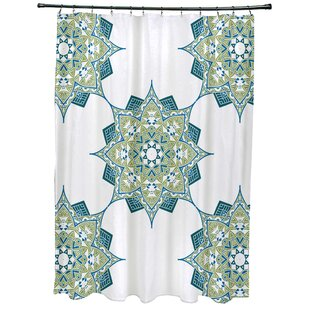 Meetinghouse Rhapsody Geometric Print Single Shower Curtain