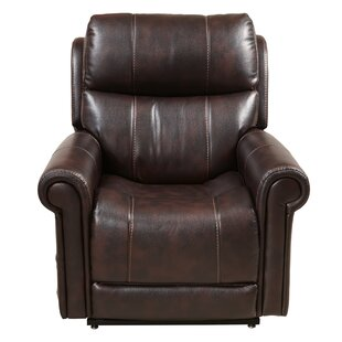 Evins Leather Recliner Red Barrel Studio