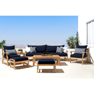 Mcclellan 8 Piece Sunbrella Sofa Seating Group with Cushions