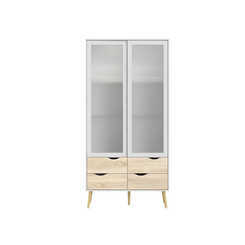 Mateer 4 Drawer And 2 Door China Cabinet With Glass Allmodern