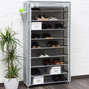 Berns 9 Compartment Shoe Rack By Rebrilliant
