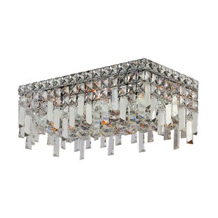 Willa Arlo Interiors Anjali Metal 4-Light Flush Mount