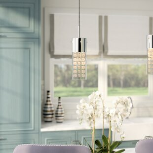 Bratton 1-Light Cylinder Pendant by Everly Quinn