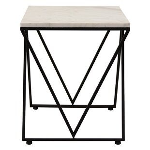 Belleview Metal and Marble End Table