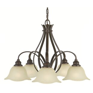 Charlton Home Dakota 5-Light Shaded Chandelier