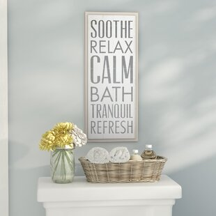U0027Soothe Relax Calm Bathu0027 Textual Art On Wood