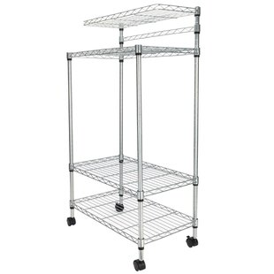 Elderton 4 Tier Storage Rack Microwave Cart