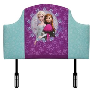 Disney Elsa and Anna Twin Upholstered Headboard by Kidz World
