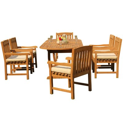 Maskell 7 Piece Teak Dining Set by Rosecliff Heights Spacial Price