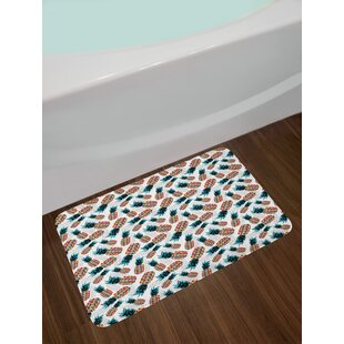 Pineapples Contemporary Bath Rug