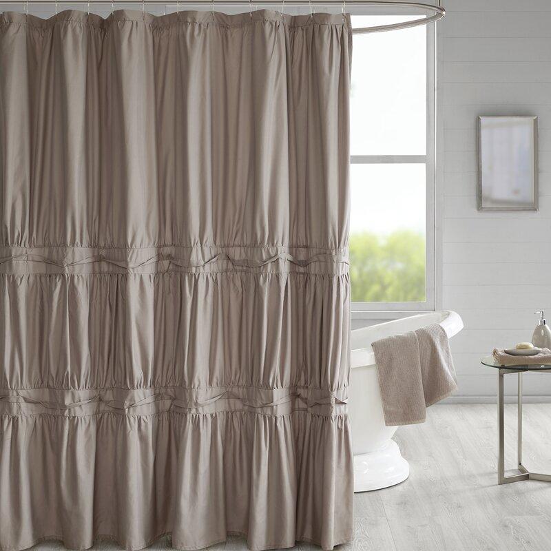 Ophelia & Co. Tyntesfield Solid Shower Curtain & Reviews | Wayfair