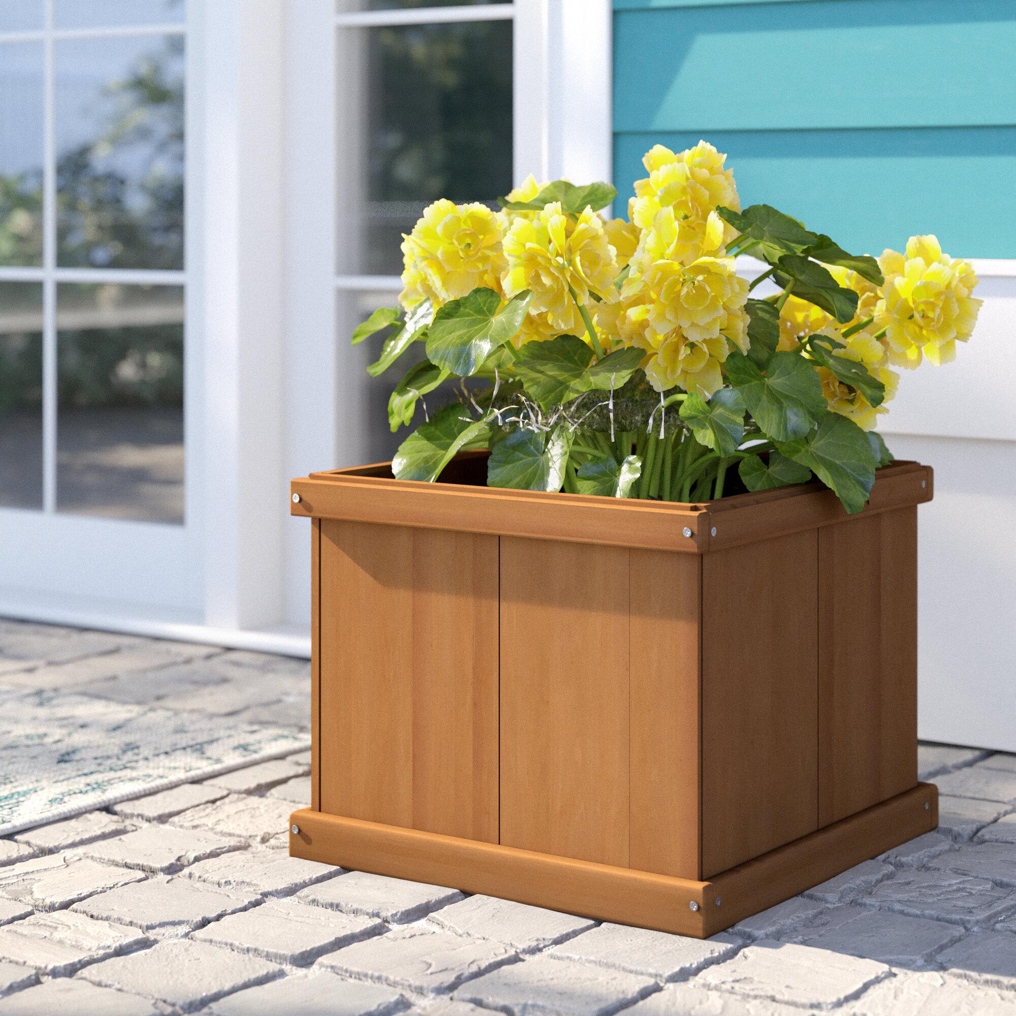 Flower Planter Cedar Wood Garden Patio Porch Rustic Decor Yard Backyard Entryway