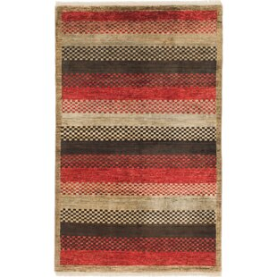 Buying One-of-a-Kind Nash Hand-Knotted 3'10 x 6'5 Wool Red/Black/Beige Area Rug By Isabelline