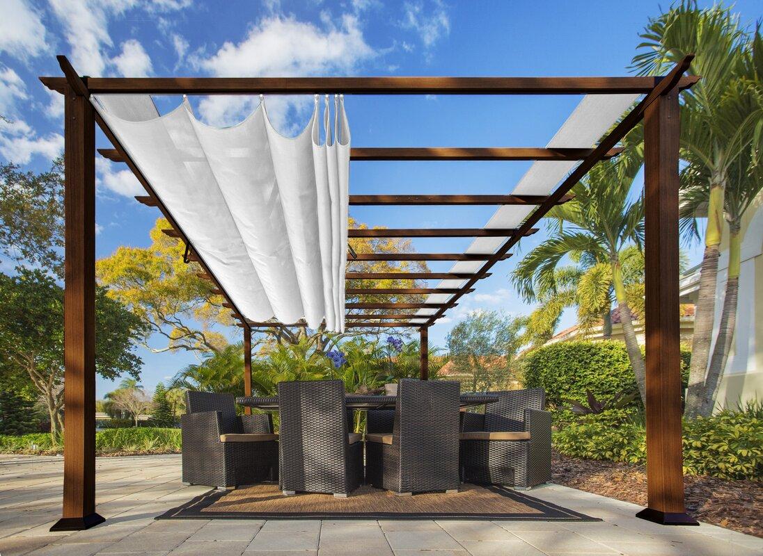 Verona 11.5 ft. W x 16.5 ft. D Aluminum Pergola