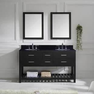 Savings Rishaan 61 Double Bathroom Vanity Set with Mirror By Willa Arlo Interiors