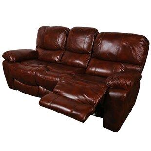 Carraton Leather Reclining Sofa Three Posts