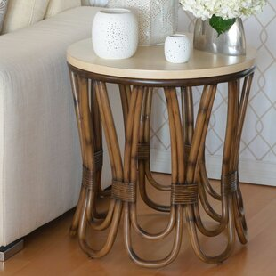 Rattan Loop End Table