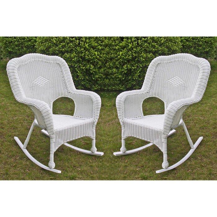 Pleasant Narron Wicker Resin Outdoor Rocking Chair Inzonedesignstudio Interior Chair Design Inzonedesignstudiocom