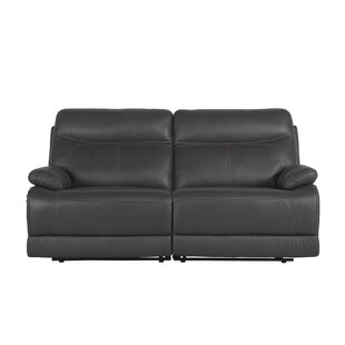 Roesch Leather Reclining Loveseat