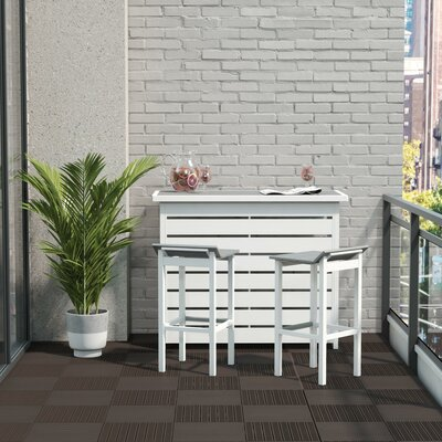 Ariesa Outdoor 3 Piece Bar Set by CosmoLiving by Cosmopolitan Fresh