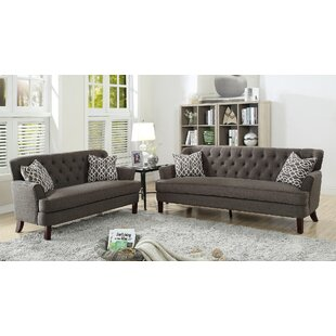 Jacinto 2 Piece Living Room Set by Alcott Hill