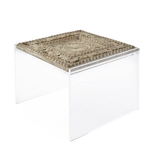 Square Feathers Perry Wood Panel Coffee T..