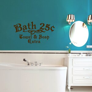 Bath 25cents Towel and Soap Extra Wall Decal