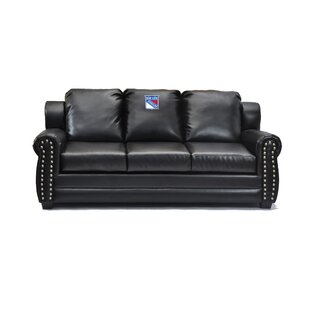 NHL Coach Leather Sofa