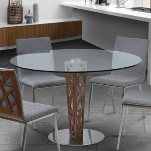 Bonetti Glass Top Dining Table by Orren Ellis Salet