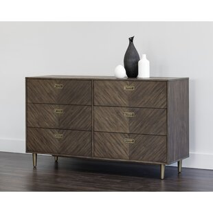 Zenn 6 Drawer Double Dresser by Sunpan Modern