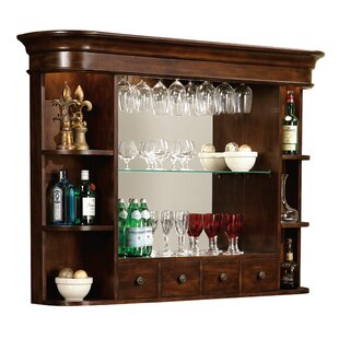 Brewton Hutch Rustic Wall bar