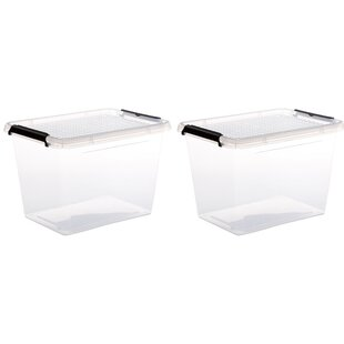 Plastic Storage Boxes (Set Of 2) By Symple Stuff