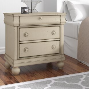 Oreana 3 Drawer Nightstand by Three Posts