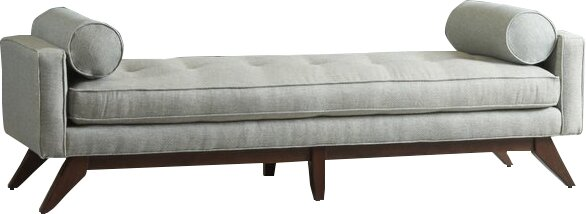 Upholstered Bench. Shop Drew's Honeymoon House! {Master Suite} #chaise