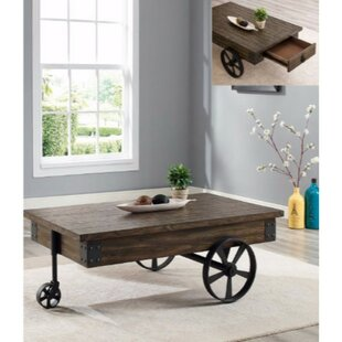 Castlebourne Wagon Wheel Coffee Table with Storage