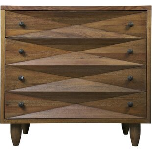 Diamond 4 Drawer Accent Chest by Noir