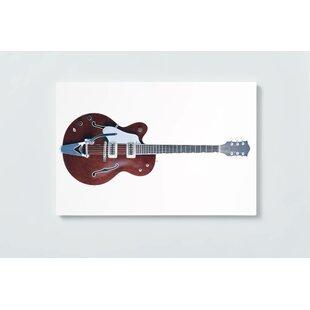 Guitar Motif Magnetic Wall Mounted Cork Board By Ebern Designs