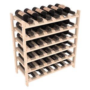 Karnes Pine Stackable 36 Bottle Floor Wine Rack