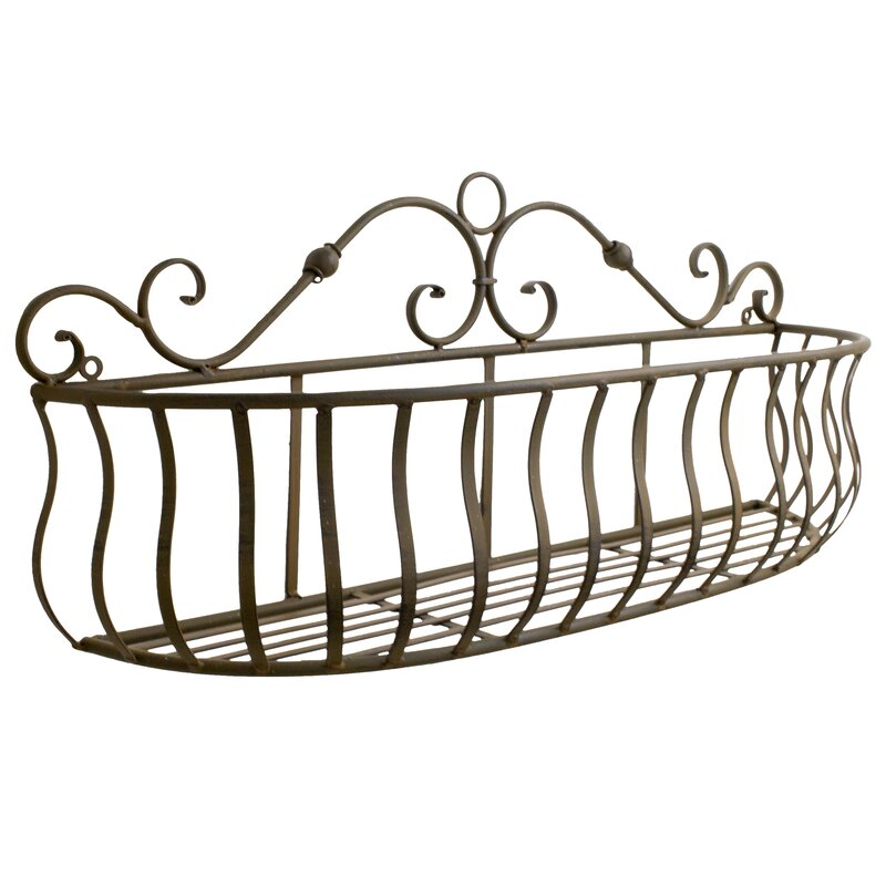 BayAccents 3 Piece Scrolled Metal Wall Hanging Basket Wall Décor Set ...
