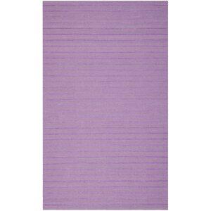 Dhurries Lavender Wool Area Rug