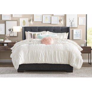 Doucet Wingback Upholstered Platform Bed