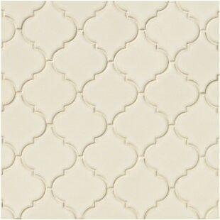 Arabesque 10 83 X 15 5 Ceramic Mosaic Tile In Antique White