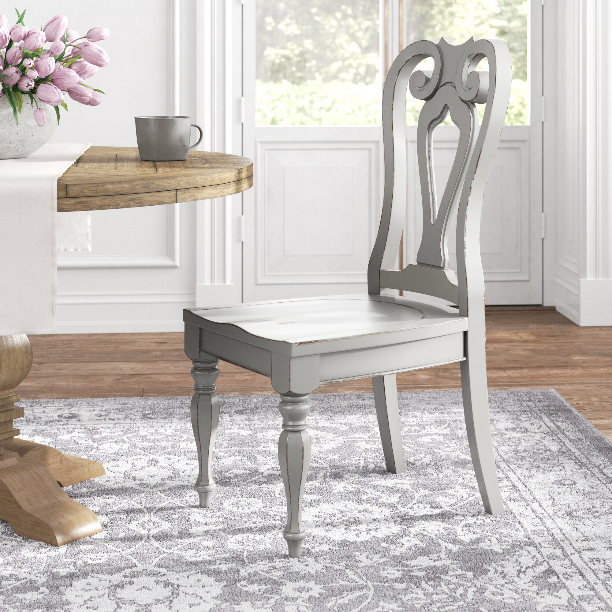 Queen Anne White Unfinished Dining Chairs You Ll Love In 2020 Wayfair