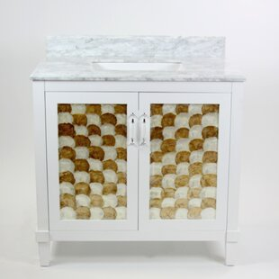 Nonatum 36 Single White Bathroom Vanity by Rosecliff Heights