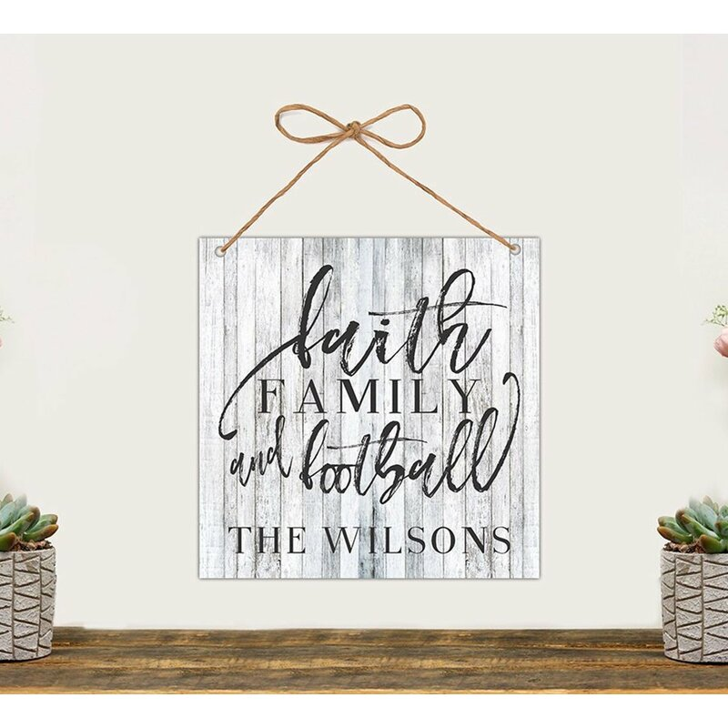 Faith, Family and Football Personalized Wall Décor