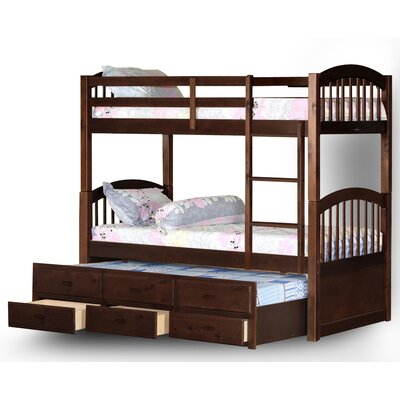 Kamryn Twin Over Bunk Bed With Trundle And Storage