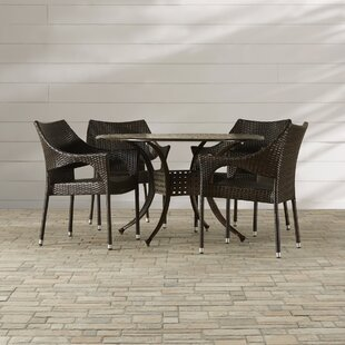 Dingman 5 Piece Outdoor Dining Set