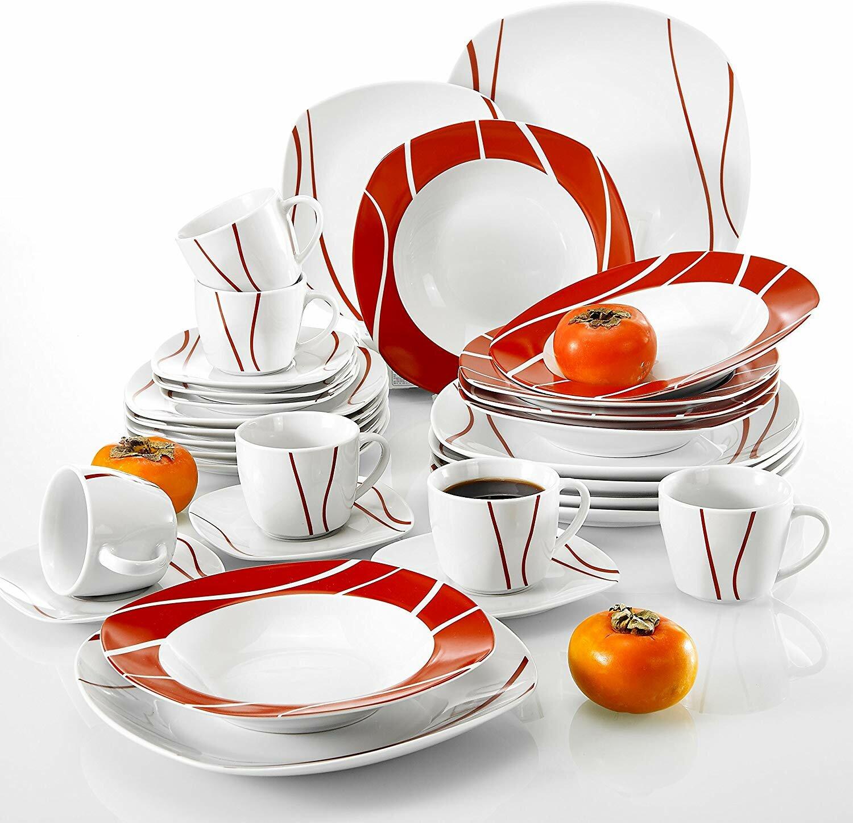 Malacasa Felisa 30 Piece Dinnerware Set Service For 6 Reviews Wayfair