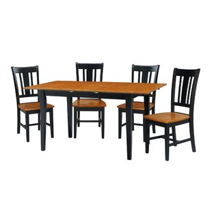 Kelm 5 Piece Extension Drop Leaf Solid Wood Dining Set Alcott Hill